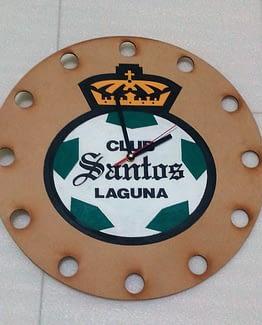 Reloj de pared futbol Santos Laguna MDF