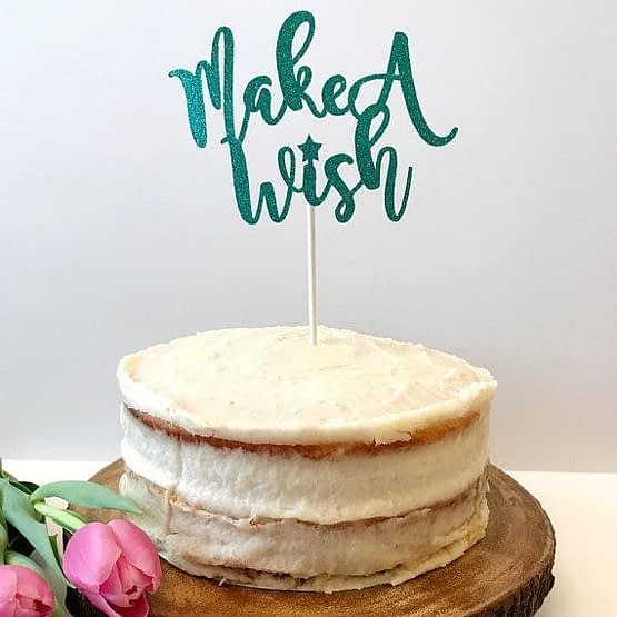 Cake Tupper Make a Wish