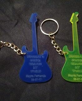 Llavero Guitarra Eléctrica de Acrílico