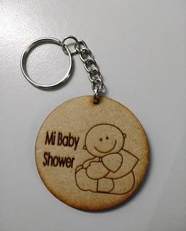 Llaveros Baby Shower MDF