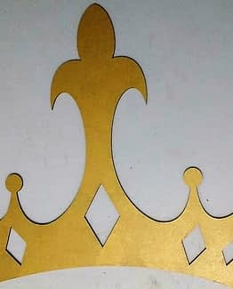 Corona MDF princesa
