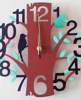 Reloj de pared Pájaro Péndulo MDF