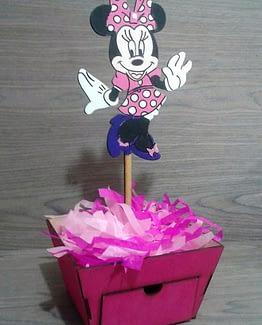Centros de mesa con dulcero Minnie