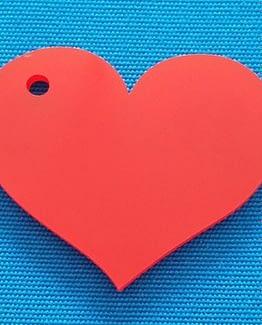 Llavero corazón rojo MDF
