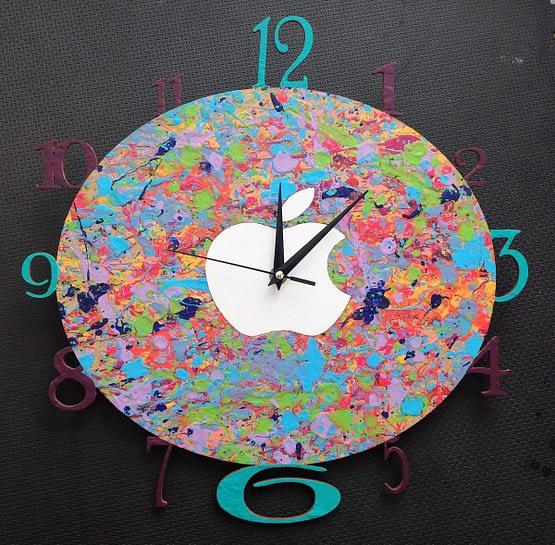 Reloj de pared MDF Apple