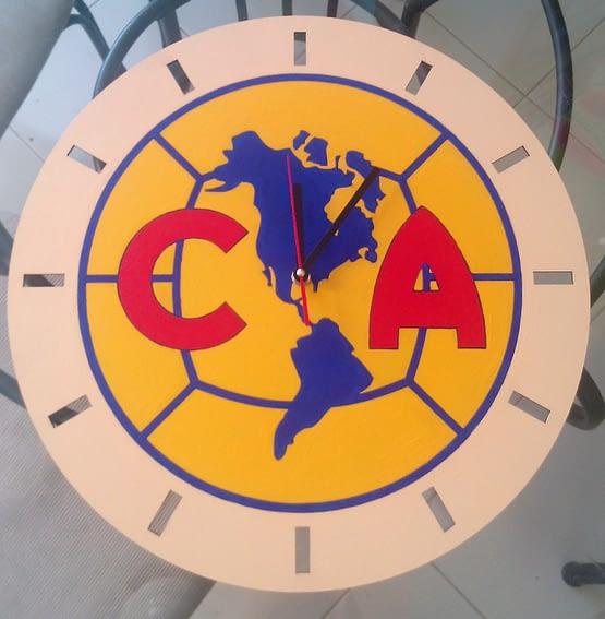 Reloj de pared futbol MDF - Club América